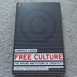 💎2/$15 Free Culture by Lawrence Lessig Paperback